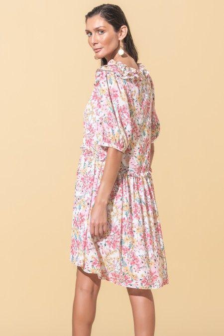 Vestido com estampado floral