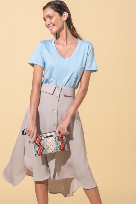 Asymmetric midi skirt Flora Sustainable