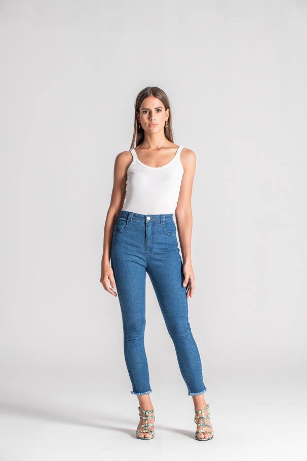 Jeans de cinta alta