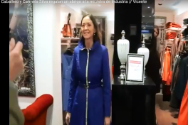 The Minister of Industry of Spain visited an Ana Sousa store and was delighted with the New Collection Parka!