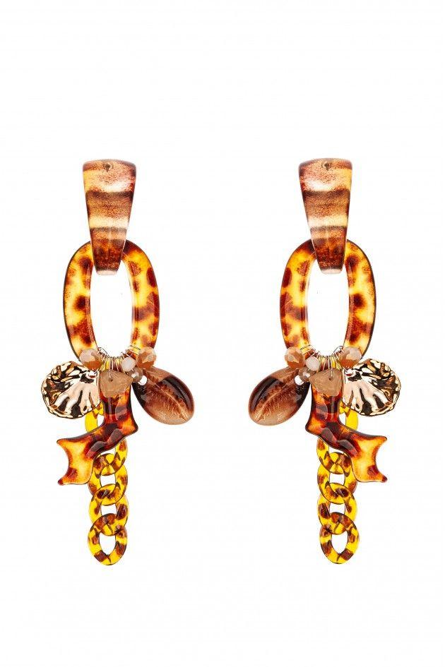 Seashell printed earrings