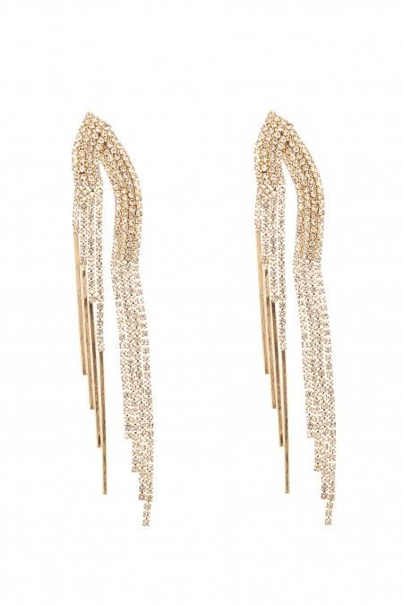Long earrings with cristals