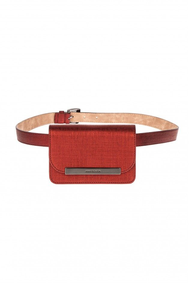 Grained waist bag