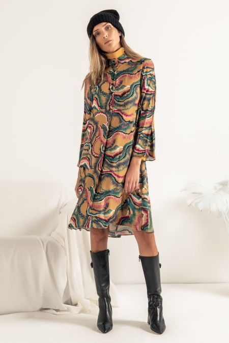 Digital print dress