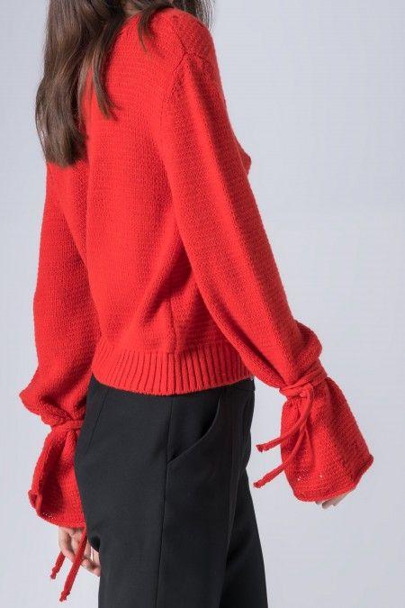 V neckline sweater