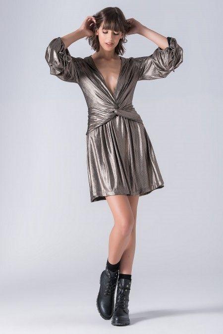 Shimmering metallic dress