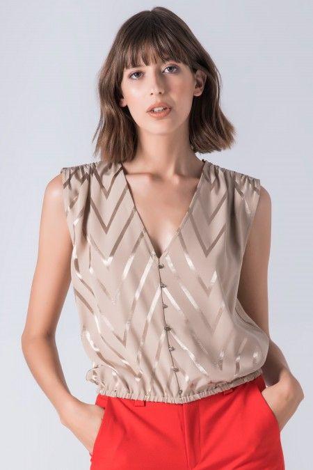 V neckline top