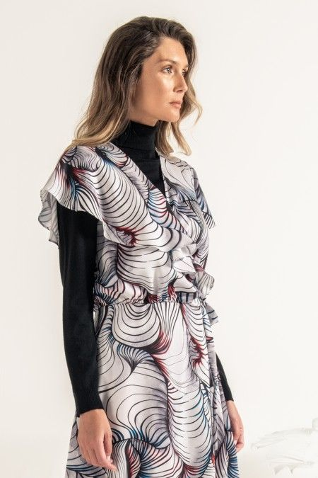 Sublimated printed dress