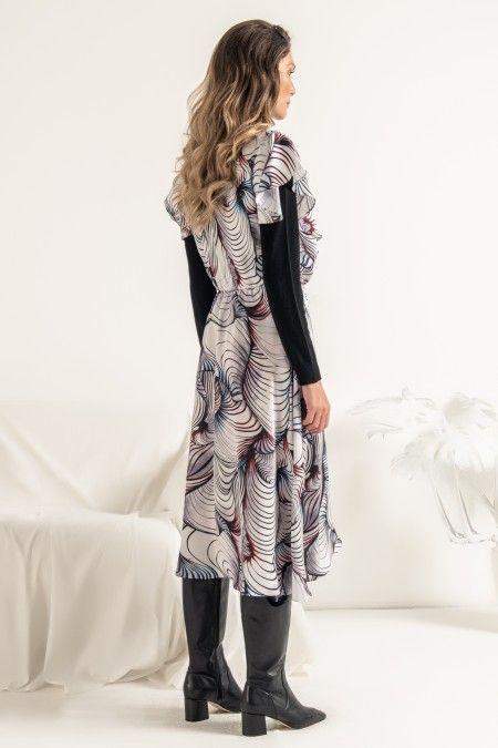 Vestido com estampado sublimado