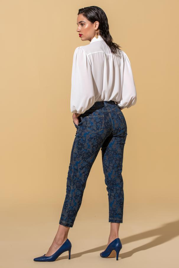 Pantalons taille mi-haute imprimé