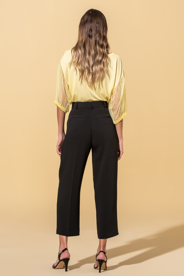 Pantalons flare courts