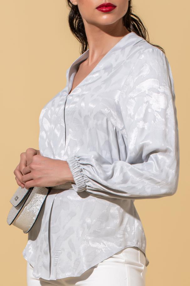 Blusa manga comprida decote em V