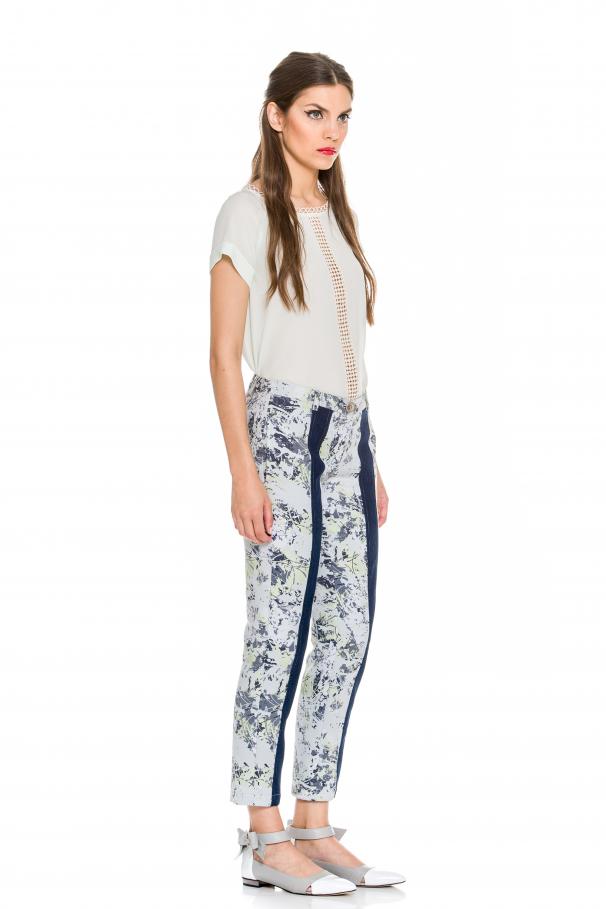 Pantalon avec jacquard