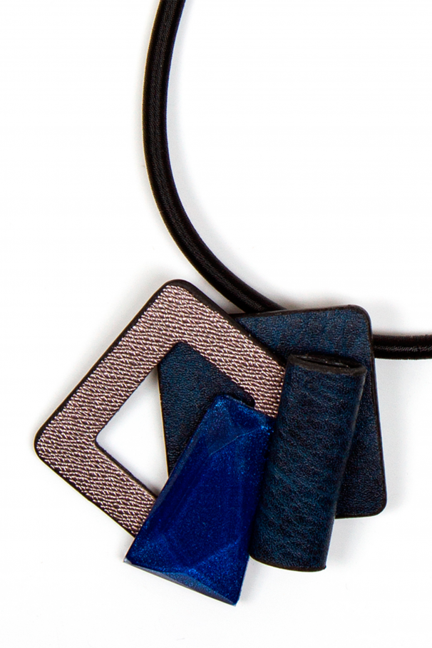 Synthetic leather pendent necklace