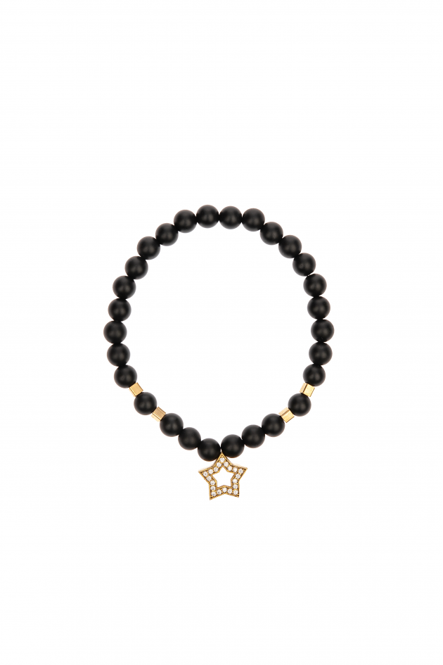 Bracelet with stones and star pendent