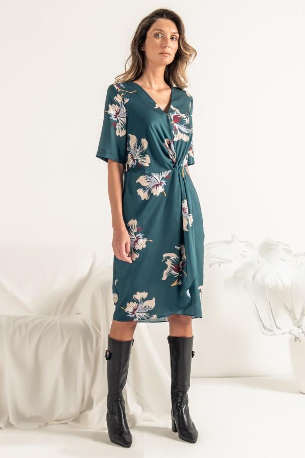 Robe avec imprimé fleuri