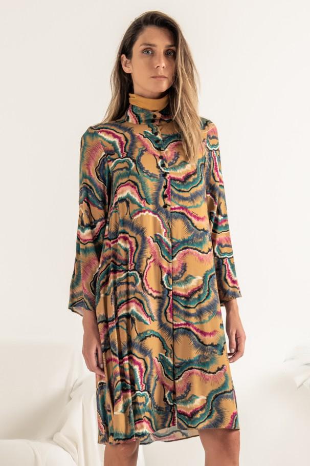 Vestido com estampado digital