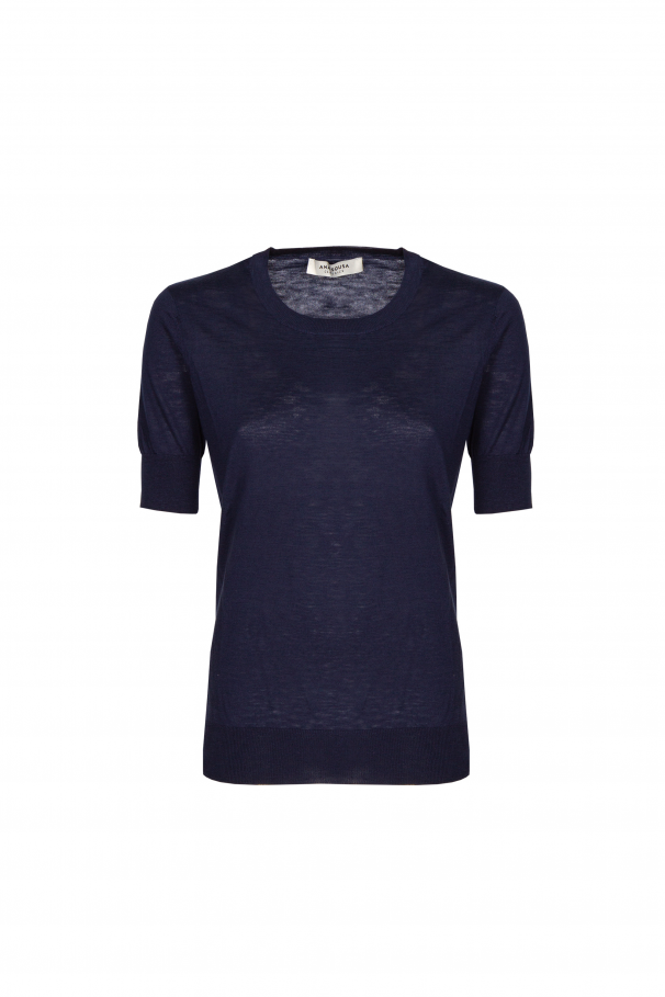 Fine-knit cotton t-shirt
