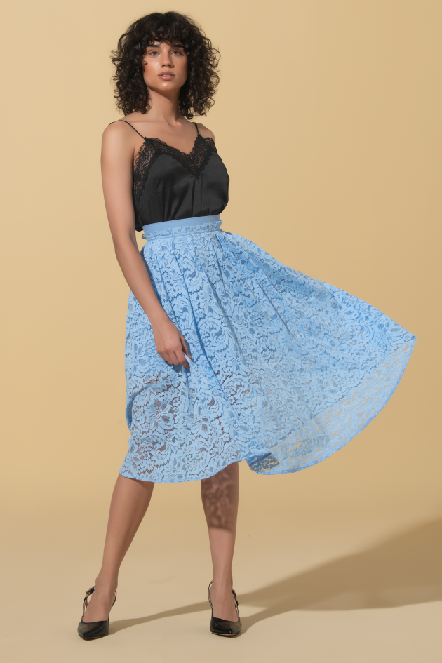 Skirt midi in lace