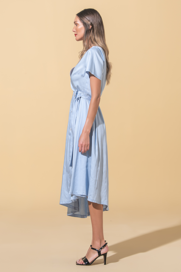 Asymmetric dress Flora Sustainable