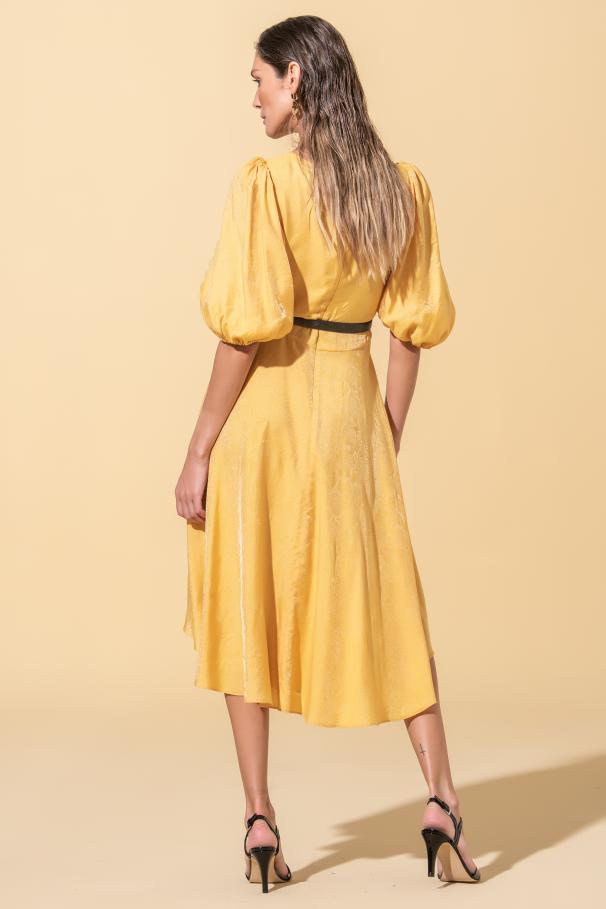 Asymmetrical midi dress