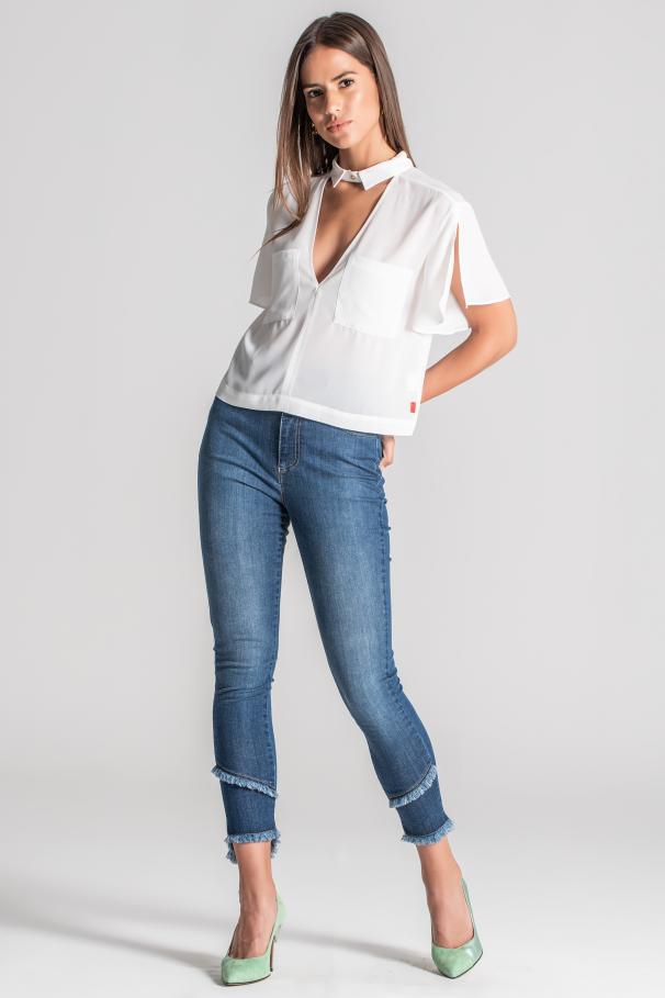 Jeans de talle alto