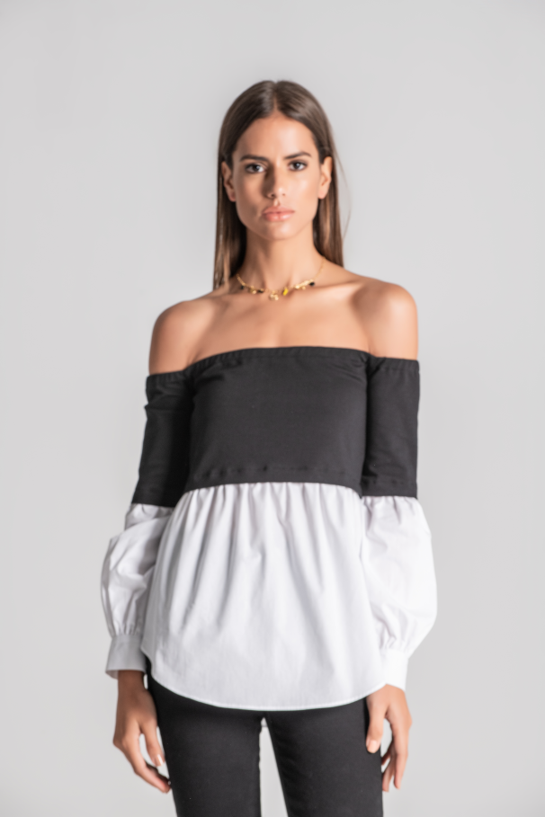 Uncovered Shoulder Blouse