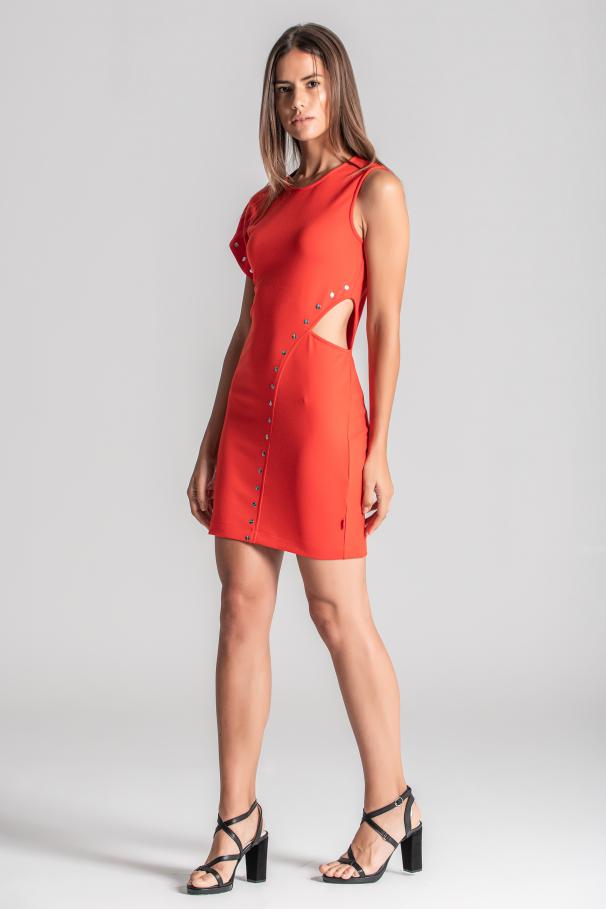 Side opening dress