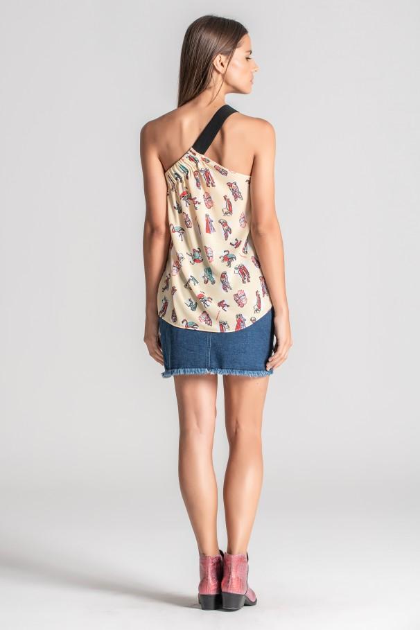 Top with open shoulder