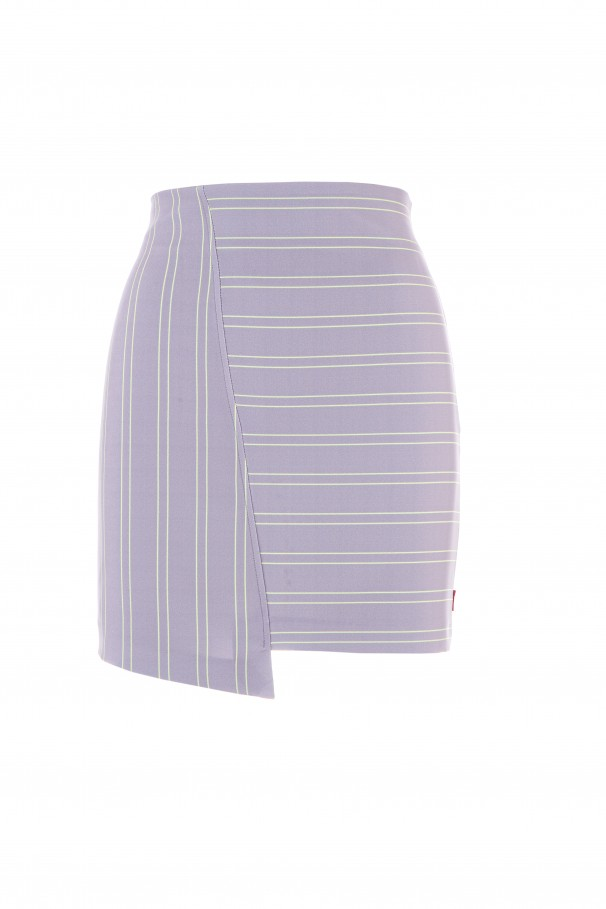 Asymmetrical mini-skirt
