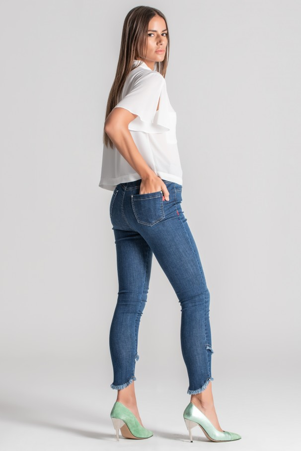Jeans taille haute
