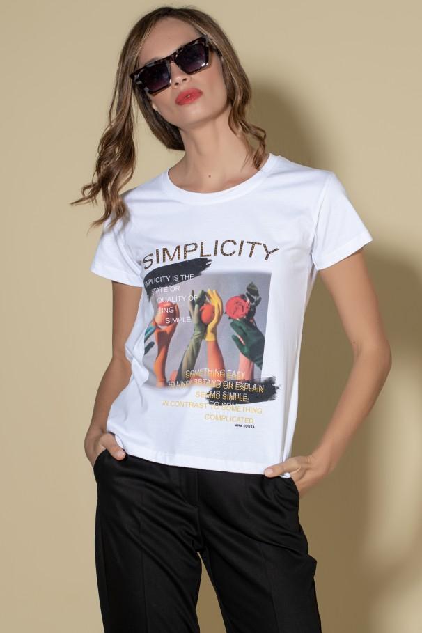 T-shirt avec détails imprimés