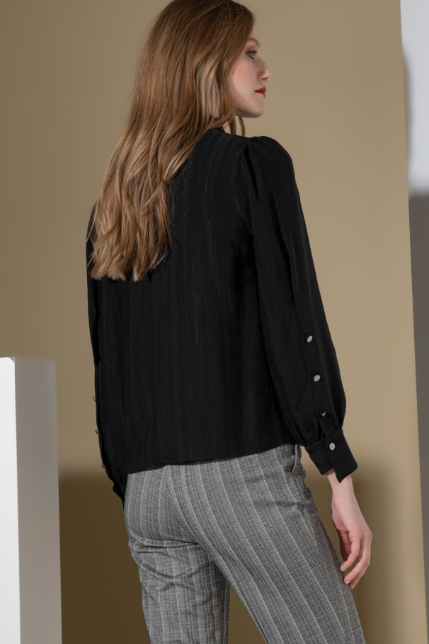 Blouse with bow
