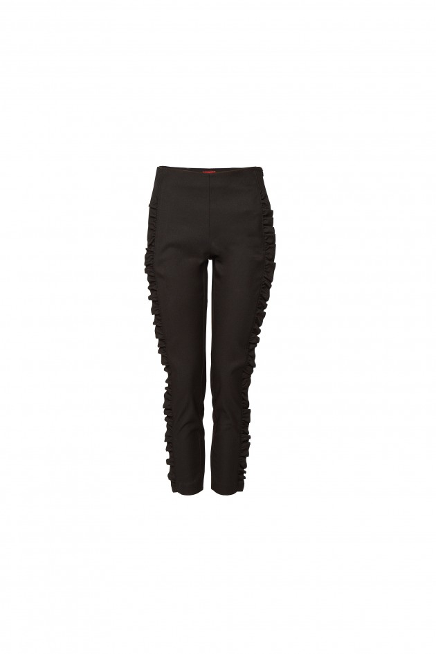 Pants with frills