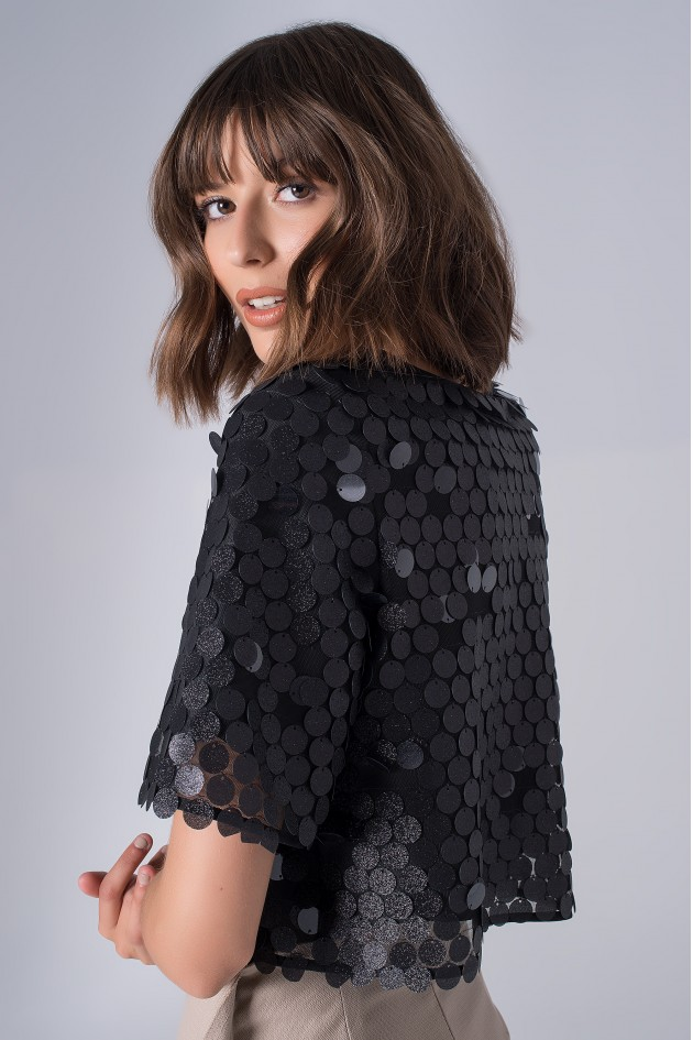 Tull top with sequins
