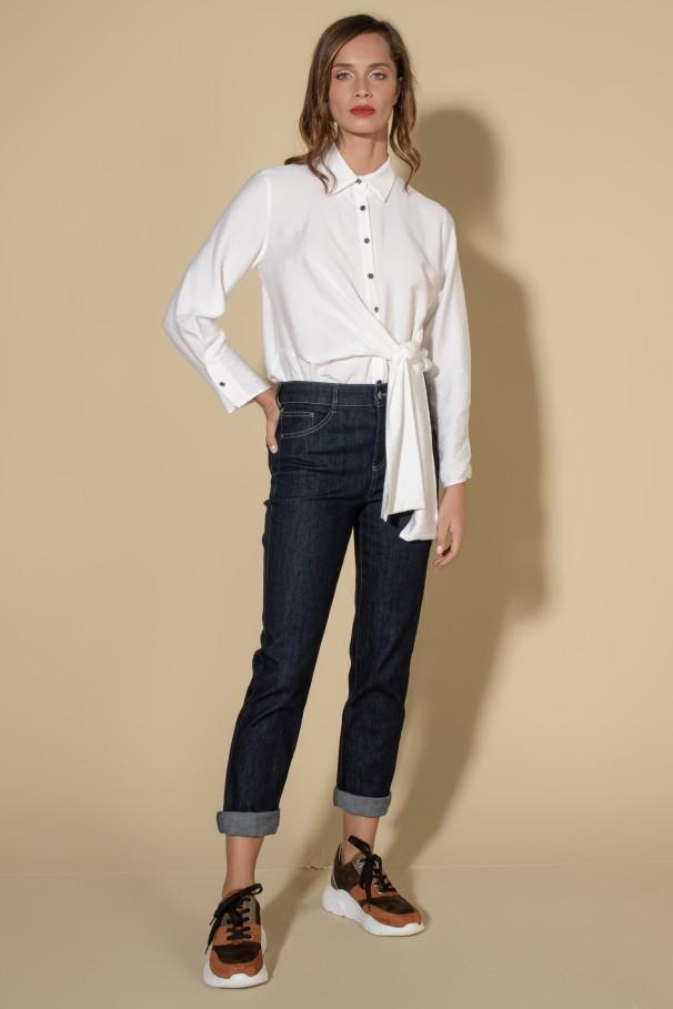 Jeans de cinta subida
