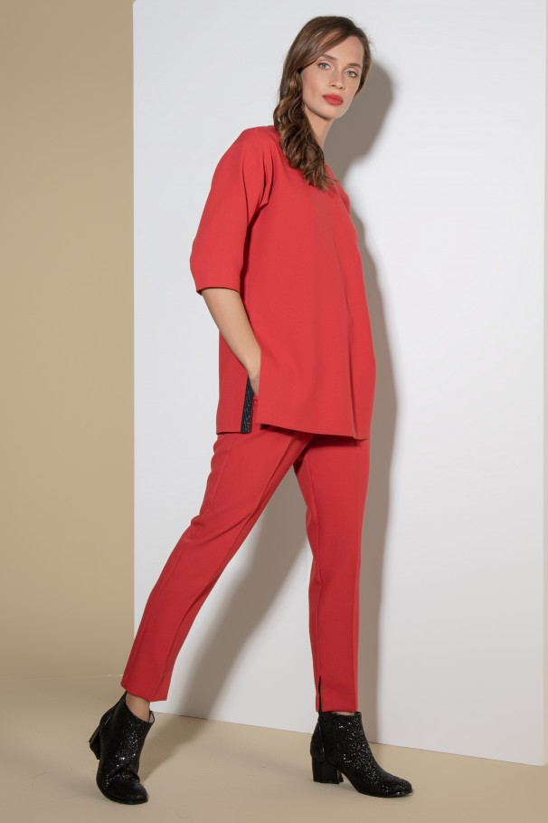 Slim pants Flora Sustainable with tie waist