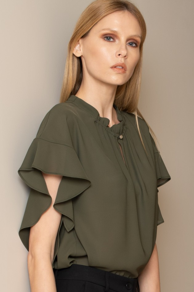 Ruffled romantic blouse