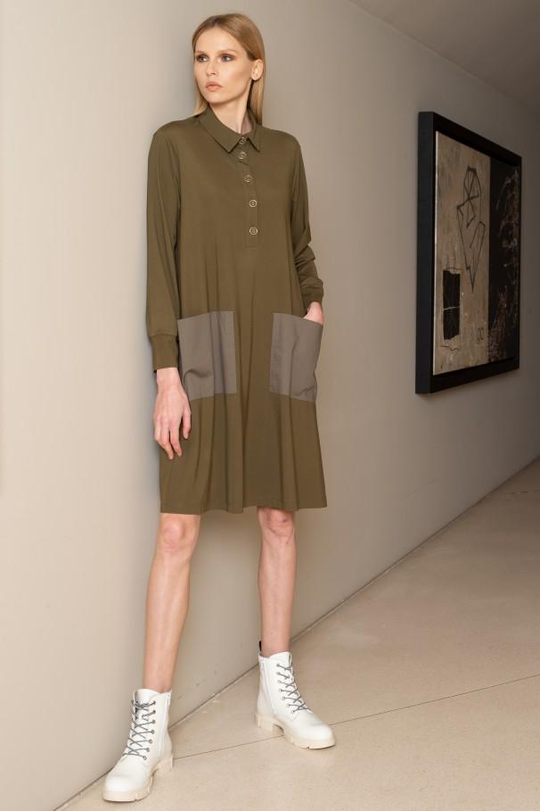 Knit fluid dress