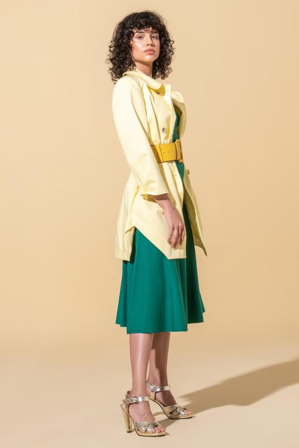 V-neckline knitted dress
