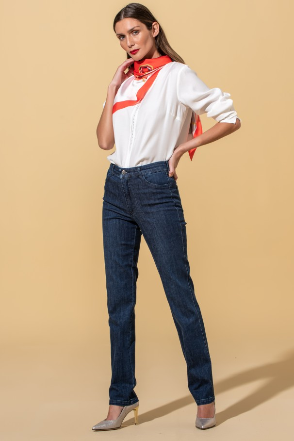 Jeans skinny cinta alta