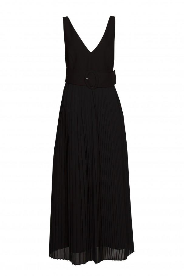 V-neckline dress with belt