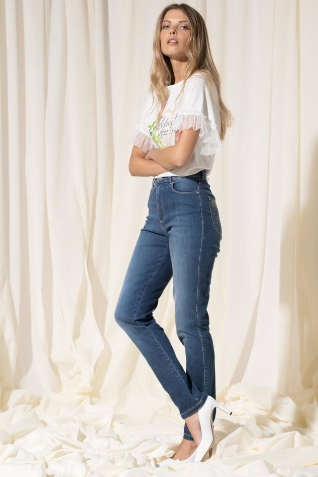 High waist Jeans pocket detail