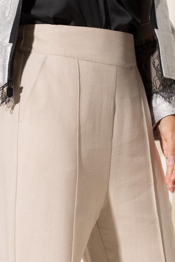 Straight high waist trousers