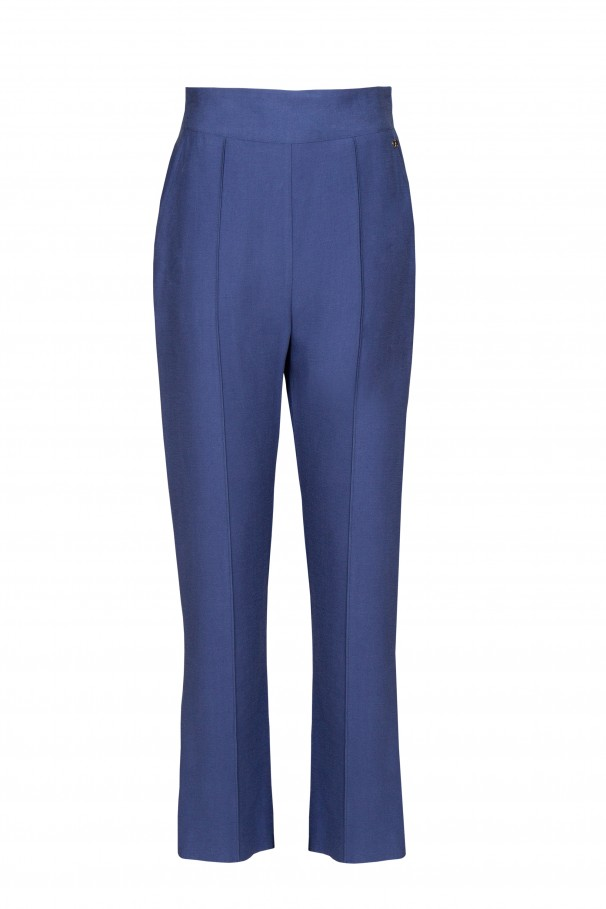 Straight high waist trousers