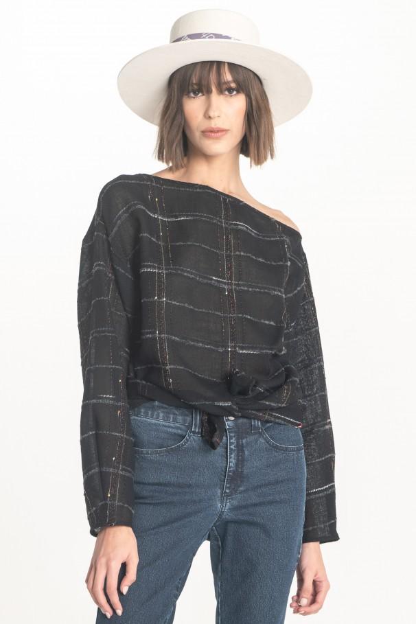Semi-sheer blouse