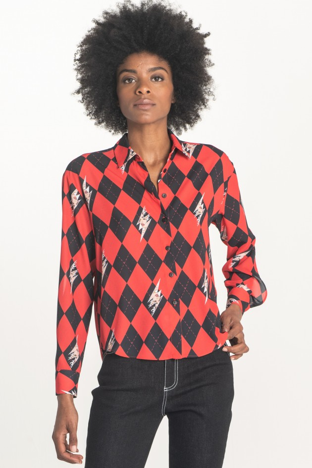 Fitted printed shirt