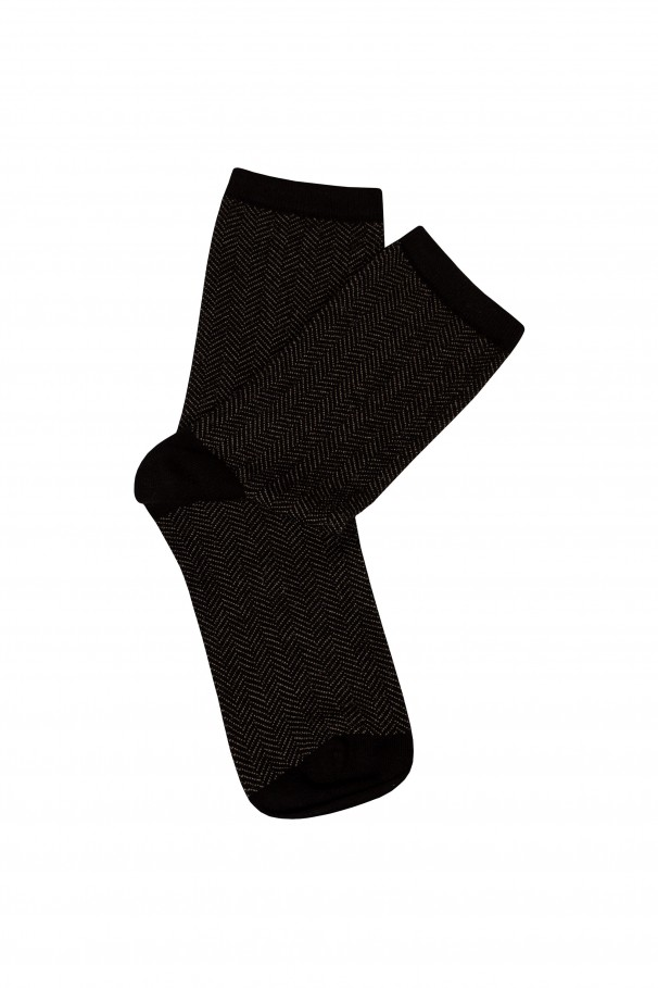 Fine-knit ankle socks
