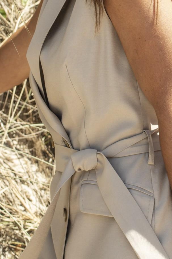 Blazer-style dress with a belt