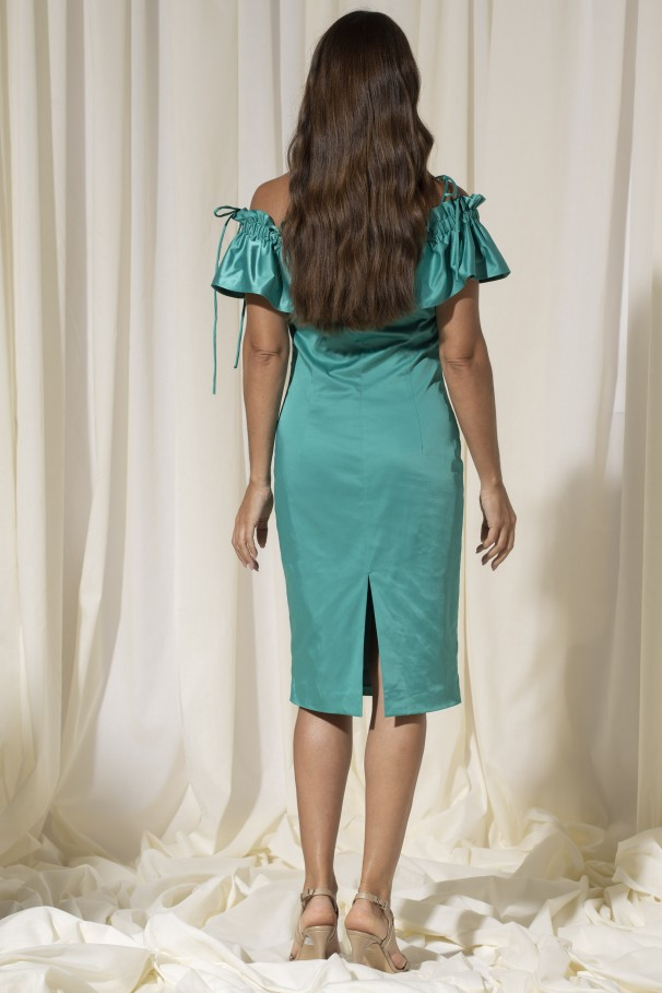 Fitted satin dress